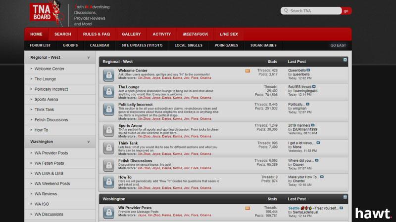 TNA Board Forum Screenshot
